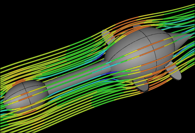 CFD Water Flow Simulation over an Idealized Plesiosaur