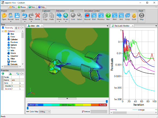 Caedium CFD Simulation