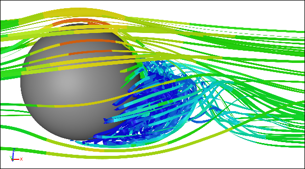 CFD Simulation of Flow Around a Rotating Ball