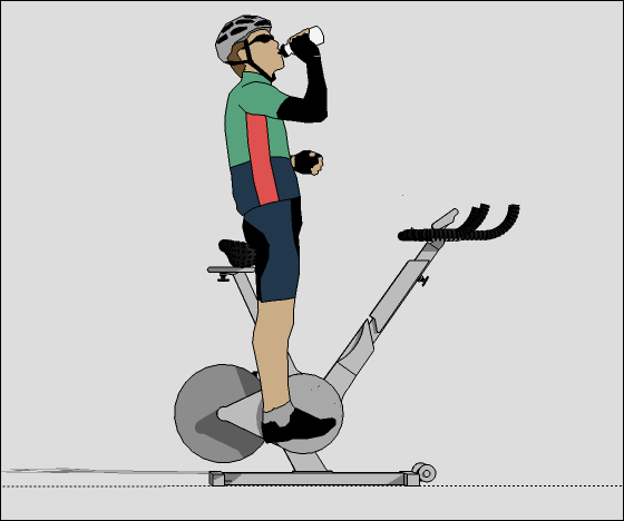 SketchUp Model of a Stationary Bicycle and Cyclist