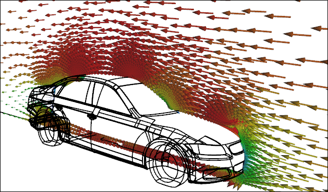 CFD Simulation of Airflow Around a Car