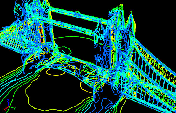 Tower Bridge Caedium CFD Simulation