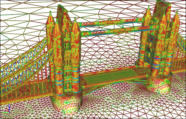 Tower Bridge CFD Triangle Surface Mesh