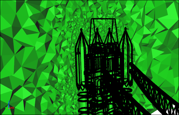 Tower Bridge CFD Tetrahedra Volume Mesh