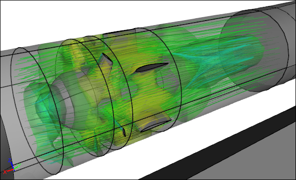 CFD Simulation Visualization of a Fan