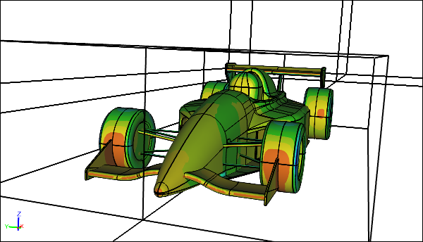 CFD Simulation of a 40% Scale Racecar in Free Air