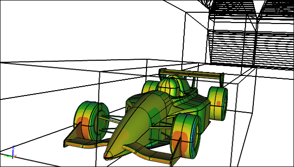 CFD Simulation of a Racecar in a Wind Tunnel