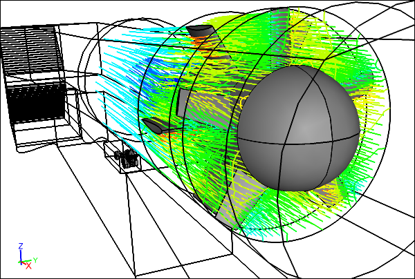 Airflow Through the Virtual Wind Tunnel Fan