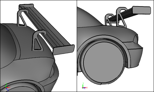 'Swan Neck' Wing Mount Geometry