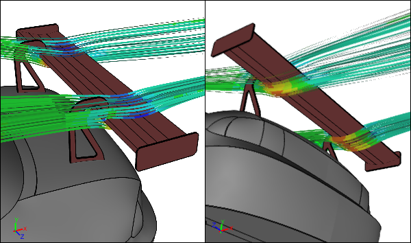 Cfd Study Comparing Racecar Wing Mounts Symscape