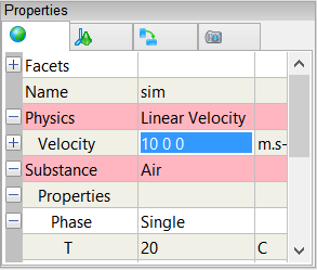 Setting the linear velocity