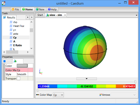 Pressure Coefficient Color Map