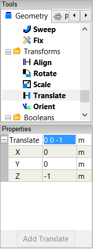Translate Cylinder Properties