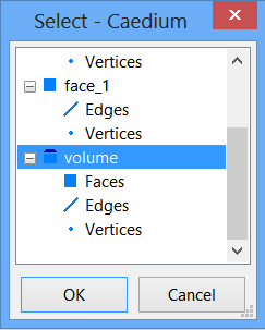 Selecting a volume